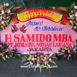 Bunga Papan Wedding 06