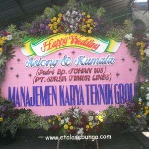 Bunga Papan Wedding 14