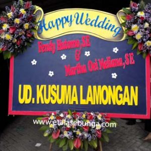 Bunga Papan Wedding 01