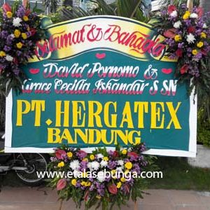 Bunga Papan Wedding 02